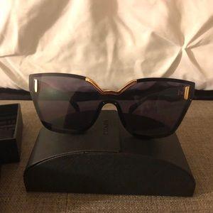 b071b087d3 Prada SPR 16T Black Cat Eye Sunglasses
